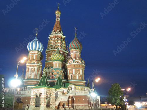 Poster saint basil's cathedral in red square
