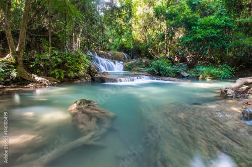 Waterfall in winter - 146108499