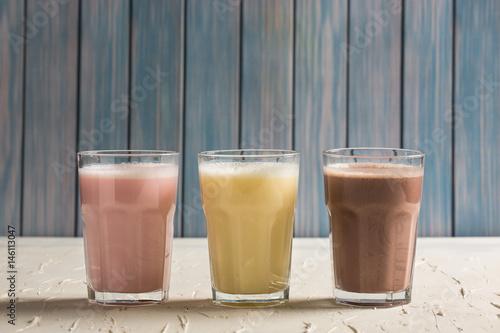Deurstickers Milkshake Delicious Milkshakes