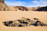 Playa Mujeres beach in Lanzarote, Canary Islands, Spain