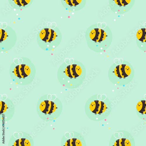 Stoffe zum Nähen Biene-Muster