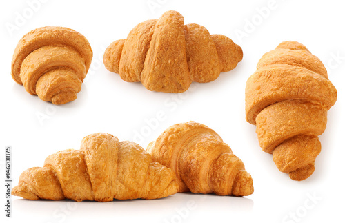 Spoed canvasdoek 2cm dik Pizzeria Croissant isolated on white background