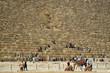 Touristen vor Cheops-Pyramide, Aufgang zur Grabkammer