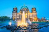 Night at Berlin Cathedral in Berlin, Germany