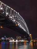 Iconic Sydney Harbour Bridge at night.