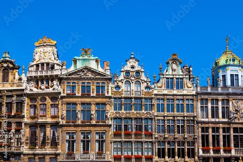 Deurstickers Brussel Houses on Grand Place, Brussels, Belgium