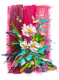 Oil painting flowers - 146249861