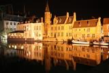 Les canaux de Bruges la nuit