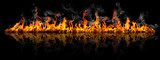 Fire panorama on a black background. - 146269028