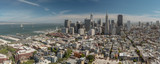 San Francisco Downtown Panorama from Coit Tower