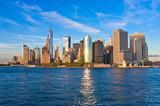 Manhattan skyline panorama at sunset . New York City - 146271073