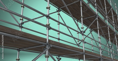 Composite image of scaffolding