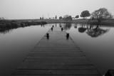 Black and White Pond Pier