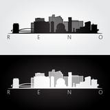 Reno USA skyline and landmarks silhouette. - 146303221