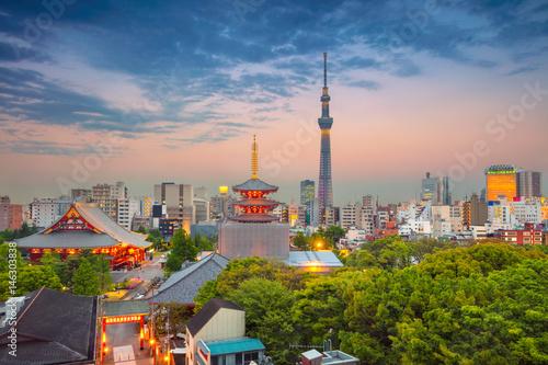 Aluminium Tokio Tokyo. Cityscape image of Tokyo skyline during twilight in Japan.