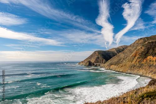 USA Pacific coast landscape, California Poster