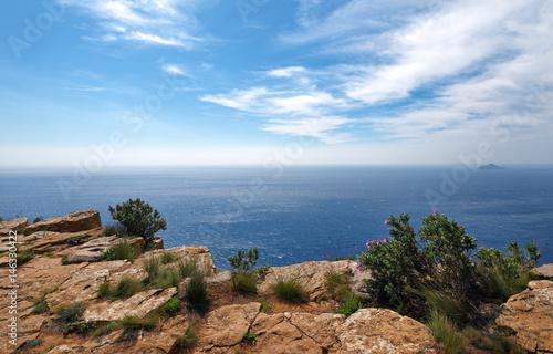 Parc national des Calanques, falaises de Cassis.,