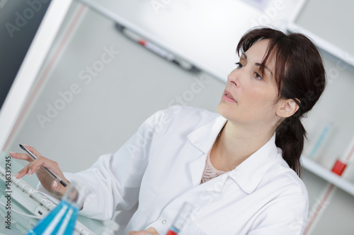portrait of chemist working in the lab