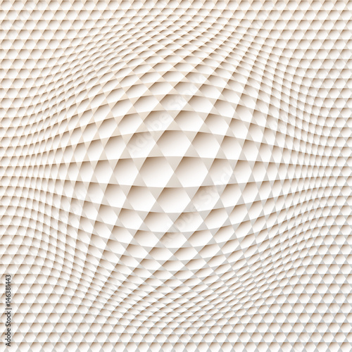 hexagon grid spherical distortion in ivory shades