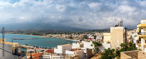Staande foto Stockholm Aerial view on port of Sitia town at eastern part of Crete island, Greece