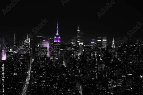 Manhattan in black and white Poster