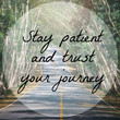 Inspirational quote on road and tree background with vintage filter