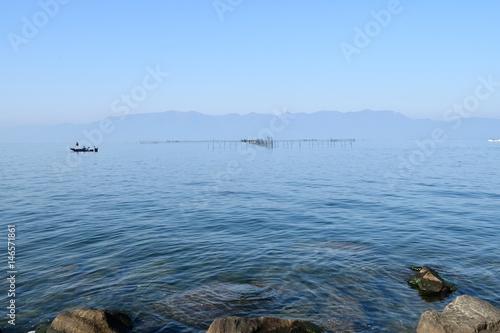 琵琶湖のえり漁