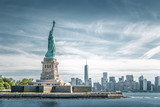 The statue of Liberty and Manhattan, Landmarks of New York City - 146600820