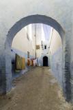 Typical Berber type alleyway, Moroccan town of Azemmour, El Jadida,