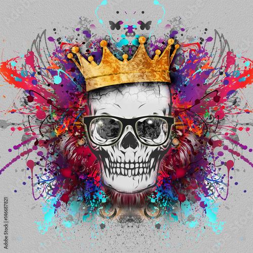 Aluminium Reznik Рисунок на футболку,череп