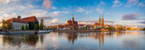 Fototapeta Wroclaw, Poland- Panorama of the historic and historic part of the old town