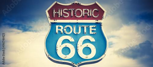 Fotobehang Route 66 motel spirit in historic 66 road