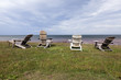 Adirondack chair overlooking the Gulf of Saint Lawrence, Prince Edward Island, Canada.