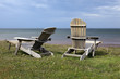 Adirondack chair overlooking the Gulf of Saint Lawrence, Prince Edward Island, Canada.