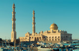 Beautiful architecture of Mosque in Hurghada at sunset, Egypt - 146780418