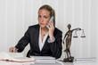 Leinwanddruck Bild - Geschäftsfrau im Büro