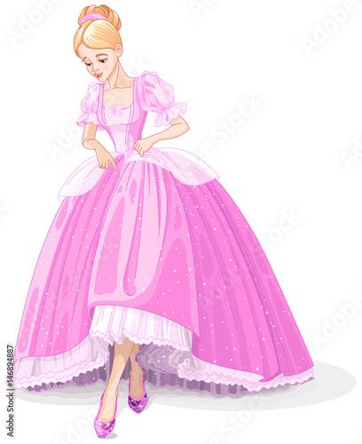Deurstickers Sprookjeswereld Cinderella