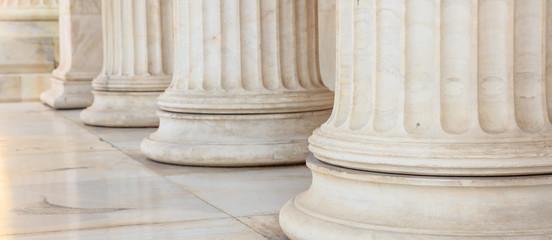 Greek marble pillars detail