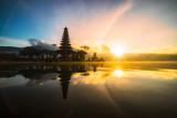 Pura Ulun Danu Bratan bali indonesia, Hindu temple on Bratan lake landscape