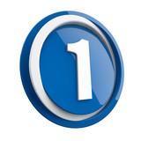 ikona plastikowa 3D niebieskie koło i pierścień - 147050853
