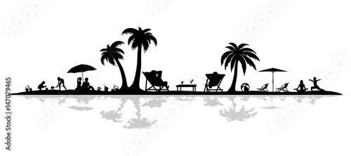 Silhouette Strand - 147079465