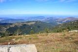 Paysage dans les Pyrénées audoises, Occitanie dans le sud de la France