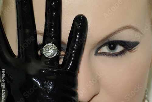 bdsm jewelry silver ring symbol Poster