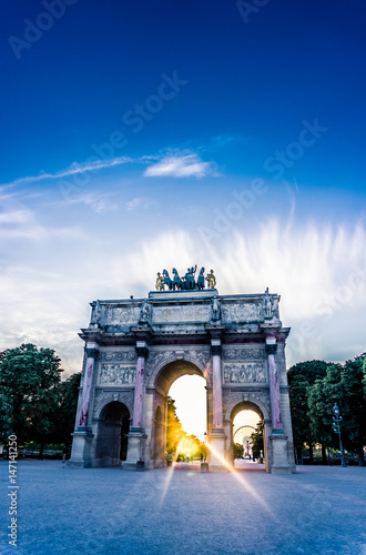 The Arc de Triomphe du Carrousel, Paris, France Poster