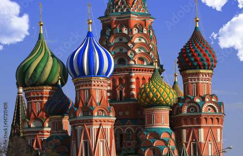 Plexiglas Moskou Russia, Moscow, St. Basil's Cathedral on red square