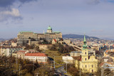 View of the Royal Palace from Gellert hill, Budapest, Hungary