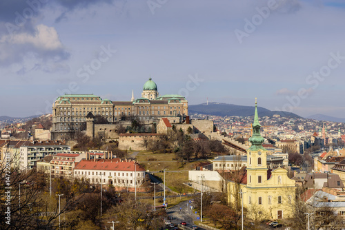 View of the Royal Palace from Gellert hill, Budapest, Hungary Poster