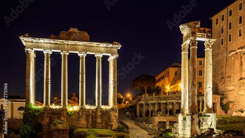 Staande foto Athene Temple of Saturn in Roman Forum - Rome