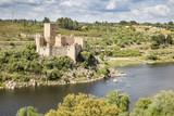 Castle of Almourol in the middle of Tagus River, Vila Nova da Barquinha, district of Santarem, Portugal