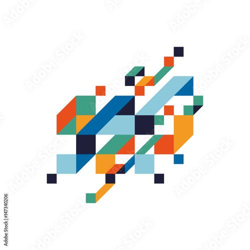 Abstrakcjonistyczna kolorowa geometryczna isometric tło wektoru ilustracja